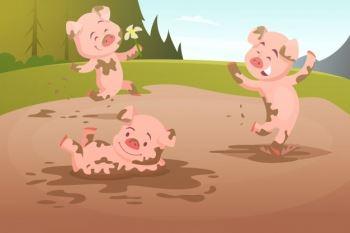 dzieci-swin-grajacych-w-brudnej-kaluzy_80590-3422