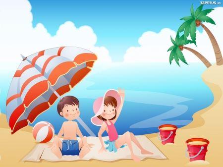 Wakacyjne podróże 2- Na plaży jest fajnie
