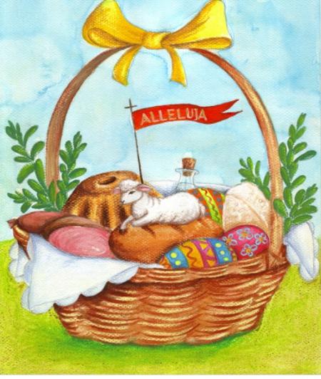 Czwartek 01.04.2021r - Wielkanocny koszyczek