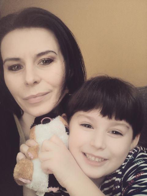 Letycja z mamą... :)