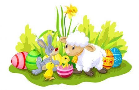 WIELKANOC – 1. Wielkanocne symbole –  kilka słów o baranku, zajączku i ku